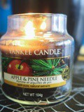 La bougie Apple and Pine Needle de Yankee Candle