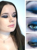 Make up : Smoky bleu et or